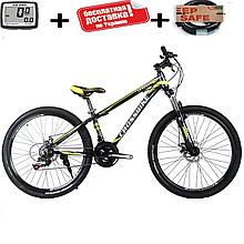 """Розпродаж!! Гірський алюмінієвий велосипед 26"""" CROSS LEADER (Disk, моноблок, 21 speed)"""