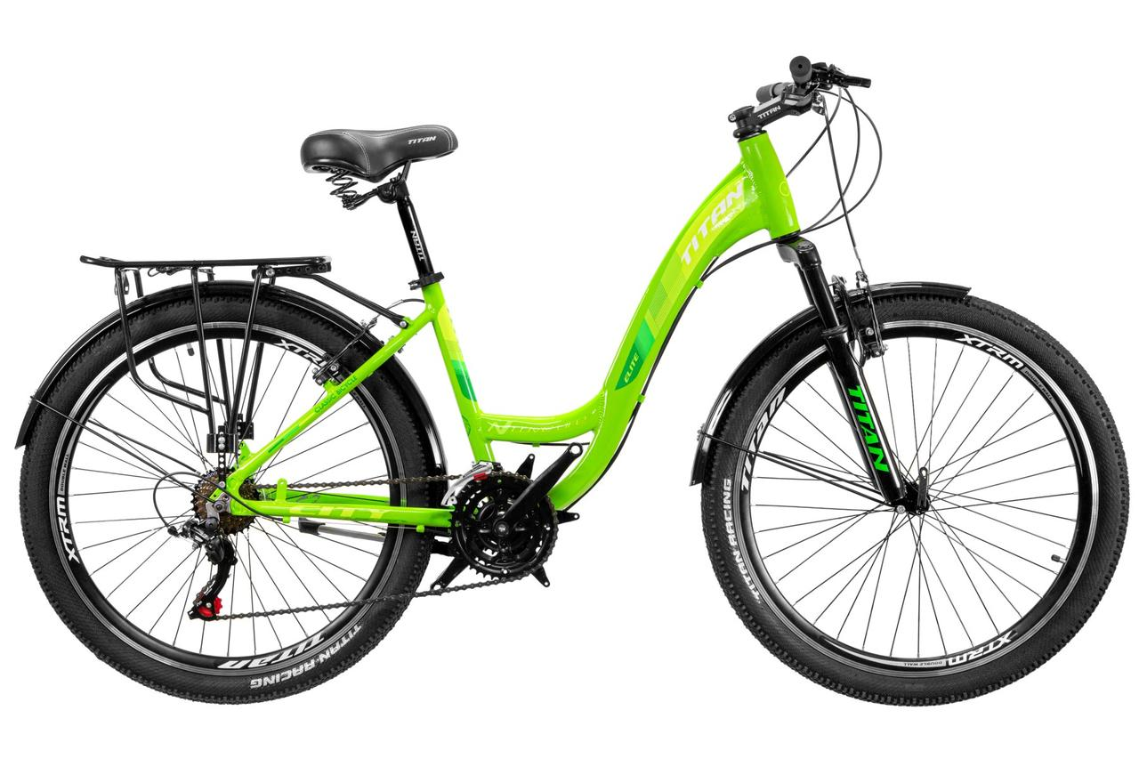 """Велосипед TITAN Elite ALU 26"""" 2020 зеленый"""