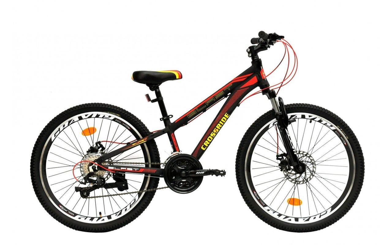 """Классный легкий подростковый велосипед 24"""" CROSSRIDE BLAST ECO DD"""