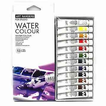 """Набор художественных Акварельные краски 12 цветов по 12мл в тюбиках """"Art ranger"""""""