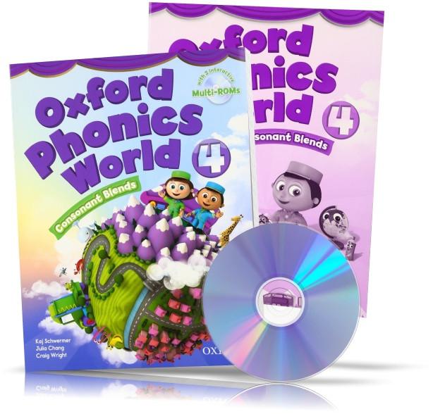 Oxford Phonics World 4, student's book + Workbook + DVD / Підручник + Зошит (комплект з диском) англійської