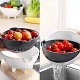 Многофункциональная терка овощерезка с контейнером Wet basket vegetable cutter 9 в 1, Мультислайсер для овощей, фото 5