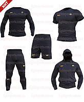 """Компрессионная одежда комплект 5 в 1 VENUM UFC (Венум) для тренировок Черный Пакистан """"В СТИЛЕ"""""""
