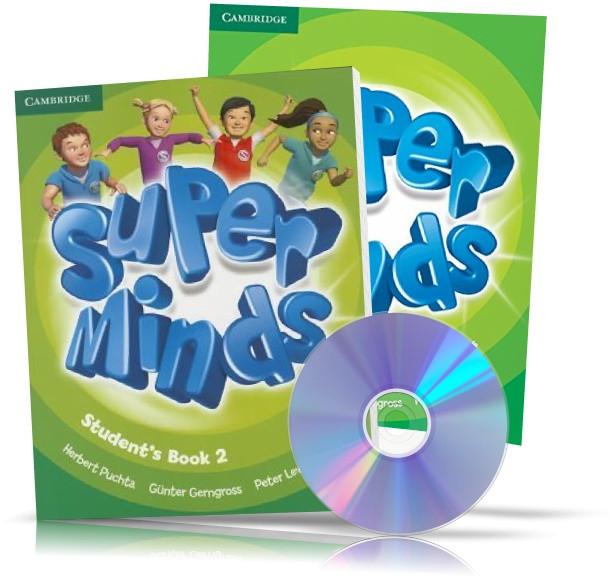 Super Minds 2, student's + Workbook + DVD / Підручник + Зошит (комплект з диском) англійської мови