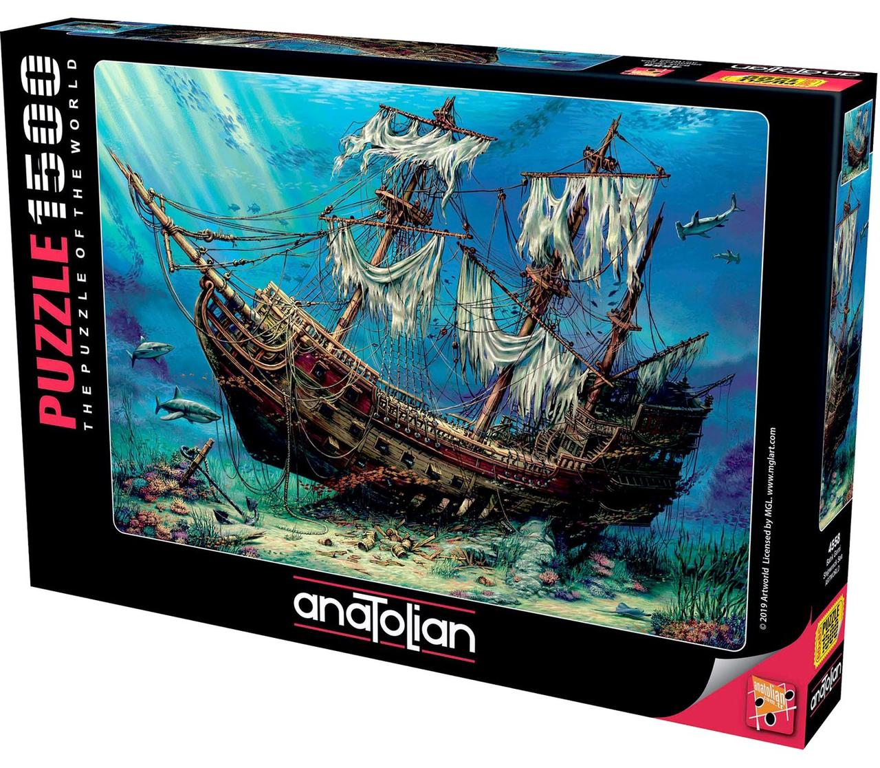 Пазли 1500 елементів корабельну Аварію в Морі 4558 Anatolian