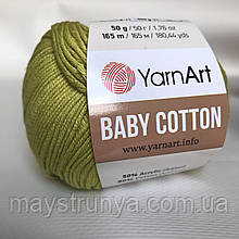YarnArt cotton Baby 436 (полухлопок) Оливка