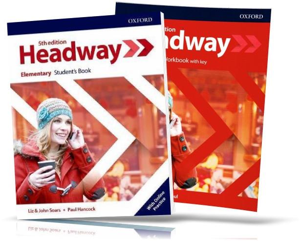 Headway Elementary 5th edition, student's + Workbook / Підручник + Зошит (комплект) англійської мови
