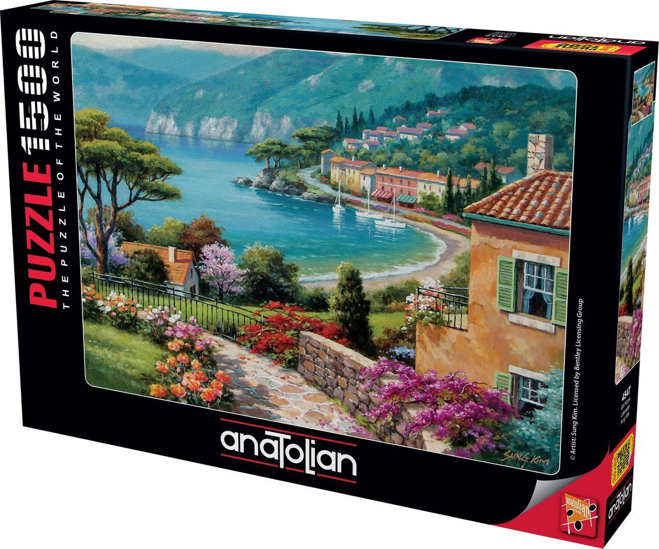 Пазлы 1500 элементов На берегу озера 4547 Anatolian