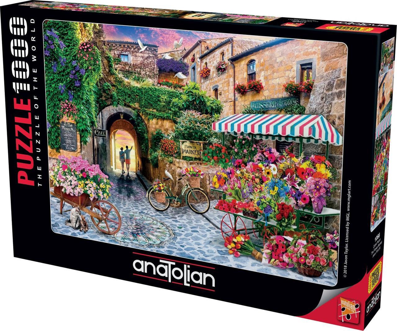 Пазлы 1000 элементов Цветочный рынок 1066 Anatolian
