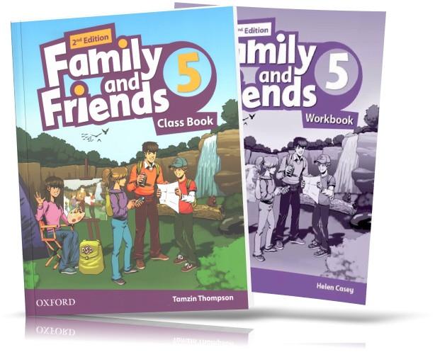 Family and Friends 2th edition 5, Class book + Workbook | учебник + тетрадь (комплект) английского языка
