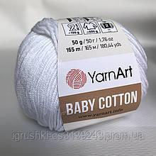 YarnArt Baby cotton 400 (полухлопок) Белоснежный