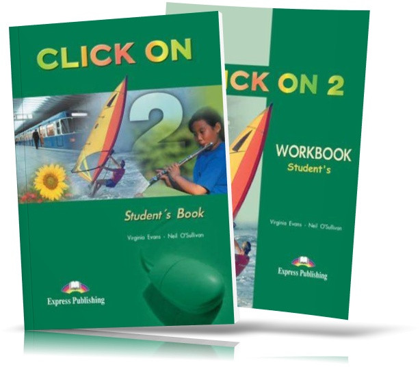 Click On 2, student's book + Workbook / Підручник + Зошит (комплект) англійської мови