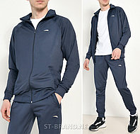 Темно синий мужской спортивный костюм на манжете / Трикотаж-лакост / размеры: 46-52