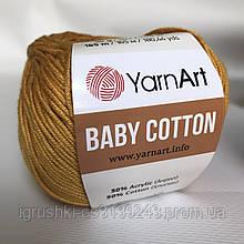 YarnArt Baby cotton 433 (полухлопок) Горчица