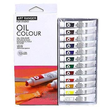 Набір Олійних художніх фарб 12 кольорів по 12мл в тюбиках Art Rangers