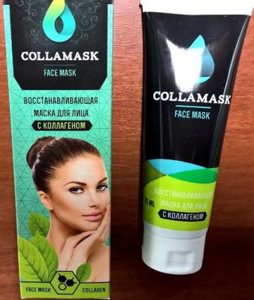 COLLAMASK, эффективная восстанавливающая маска для лица с коллагеном, collamask, коллагеновая маска для лица