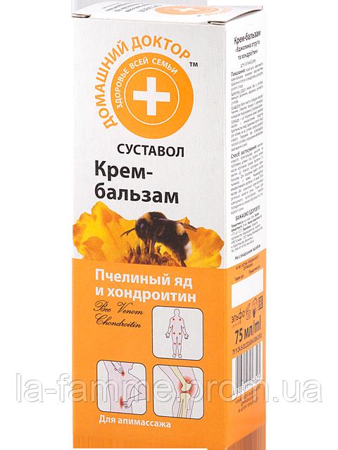 Крем-бальзам Пчелиный яд и хондроитин Домашний Доктор 75 мл