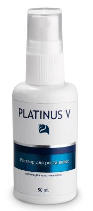 Ускорение роста Platinus V ЭФФЕКТИВНЫЙ раствор-спрей для быстрого роста волос, Платинус В для лечения лысины