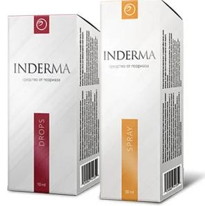 Inderma - Эффективный комплекс от псориаза - крем+капли Индерма, препараты для быстрого лечения псориаза