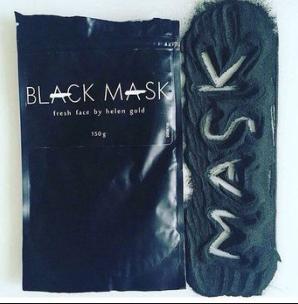 Черная маска для лица от угрей, black mask для выведения токсинов и сужения пор, Маска пленка, AFY Black Mask