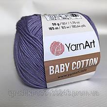 YarnArt Baby cotton 418 (полухлопок) Сирень