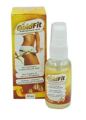 Спрей Goldfit -  для моделирования фигуры ГолдФит, спрей для похудения и омолаживания кожи голдфит, голд фит