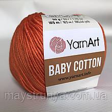 YarnArt Baby cotton 421 (полухлопок) Апельсин