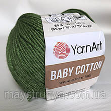 YarnArt Baby cotton 441 (полухлопок) Трава