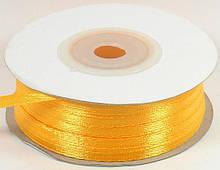Атласная лента 0,3 см, насыщенно-желтый