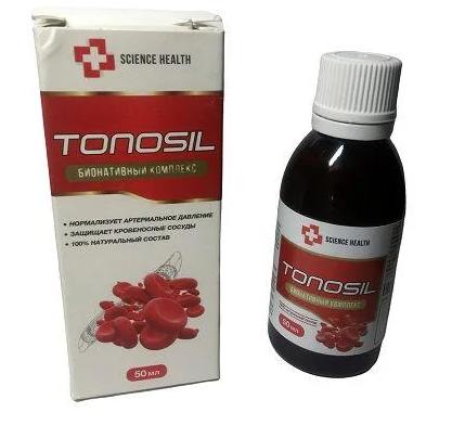 Средство для лечения гипертонии TONOSIL, капли для нормализации давления , ТОНОСИЛ капли от гипертонии