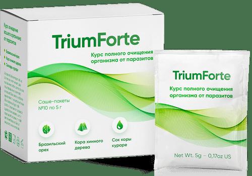 Ефективний препарат TriumForte від глистів, порошок від паразитів, саші від глистів Trium Forte, Триум Форте