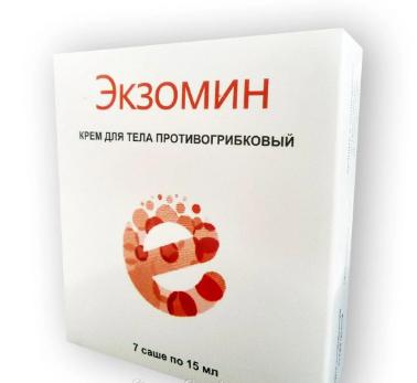 Натуральный крем Экзомин против грибка, ЭКЗОМИН КРЕМ ПРОТИВ ГРИБКА,эффективное саше от грибка экзомин