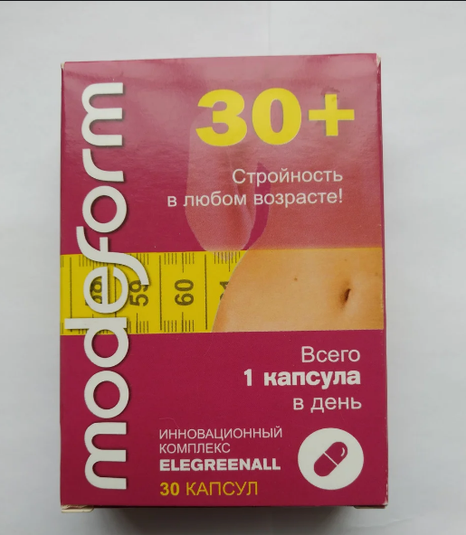ModeForm 30+ Капсули для схуднення МодеФорм 30+, капсули для спалювання жиру