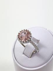 Кольцо серебряное с морганитом Т4500/м