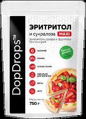 Сахарозаменитель DopDrops™ Эритритол  и Сукралоза MAXI (1:10) дой-пак (750 грамм)