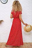 Платье женское летнее на запах в горох (3 цвета, р.S-M,M-L), фото 4