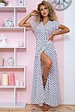 Платье женское летнее на запах в горох (3 цвета, р.S-M,M-L), фото 5