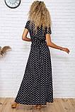 Платье женское летнее на запах в горох (3 цвета, р.S-M,M-L), фото 10