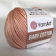YarnArt Baby cotton 412 (полухлопок) Персик