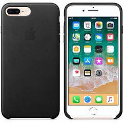 Чехол Leather Case iPhone 7 Plus/8 Plus Black (Natural Leather)