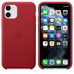 Чехол Leather Case iPhone 11 Red (Natural Leather)