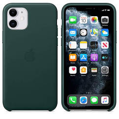Чехол Leather Case iPhone 11 Forest Green (Natural Leather)