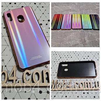 Скляний чохол Аврора  для Samsung Galaxy A60 (обід силіконовий)
