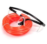Защитные очки с леской 2.4 мм длина 15 м