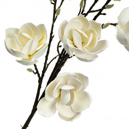 Ветка цветущей магнолии 126 см, белая, фото 2