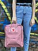 Рюкзак Fjallraven Kanken Classic розовый на 16 литров Канкен классик светоотражающий логотип, фото 2