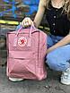 Рюкзак Fjallraven Kanken Classic розовый на 16 литров Канкен классик светоотражающий логотип, фото 3