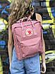 Рюкзак Fjallraven Kanken Classic розовый на 16 литров Канкен классик светоотражающий логотип, фото 4
