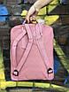 Рюкзак Fjallraven Kanken Classic розовый на 16 литров Канкен классик светоотражающий логотип, фото 5