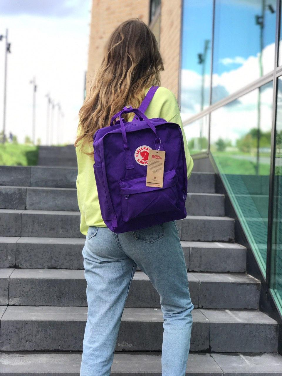 Рюкзак женский Kanken Classic фиолетовый на 16 литров